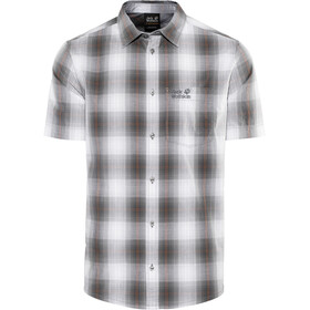 Jack Wolfskin Hot Chili Fietsshirt Korte Mouwen Heren, pebble grey checks